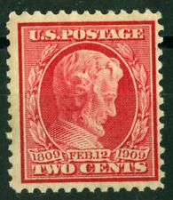 1909 US SC # 369 2c Lincoln Bluish Paper Mint H / OG