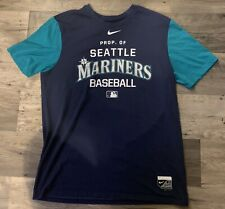 Nike Dri-Fit Authentic Collection Seattle Mariners T-Shirt Mens Adult Large