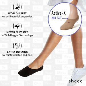Sheec Active X MID-CUT. Best Women's REINFORCED ANTIBACTERIAL No Show Socks.