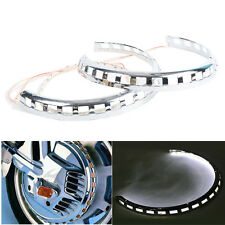 White Light Ring of Fire Brake Rotor Covers Fit For Honda Goldwing GL1800 01-17