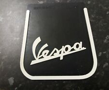 Vespa Black and White Spanish 3D Type Thick Rubber Mudflap