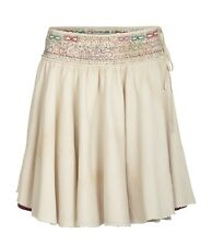 ALL SAINTS AFGHAN COTTON NAVAJO EMBROIDERED BOHO LAYERED FLIPPY SKIRT 8 36 £85!