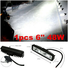 1pc 6Inch 1600LM Work Light LED Work Light Bar Spot Beam Off Road Driving Light