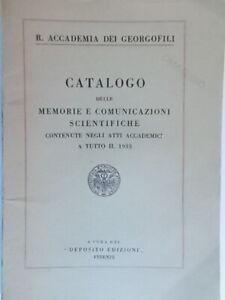 catalogo delle memorie e comunicazioni scientifiche 1934 accademia georgofili 06