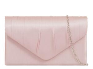 Women's Satin Floral Clutch Bags Party Wedding Evening Handbag - 26 Colour 8002