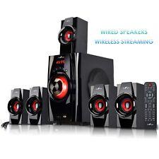 beFree 5.1 Ch Surround Sound Speaker System BFS-410 w Bluetooth USB SD FM Radio
