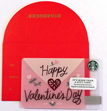 Starbucks 2017 Valentine's Day Gift Card With Envelope