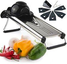 Chef's INSPIRATIONS Premium V Blade Stainless Steel Mandoline Food Slicer, and