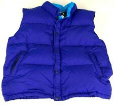 The North Face Mens Puffer Down Quilted Vest Size XL Blue Buttons 2 Toned Jacket
