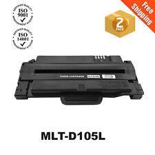 2PK MLT-D105L Toner Cartridge For Samsung ML-2525 ML-2525W SCX-4623F SCX-4600