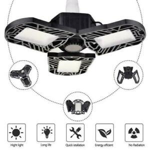 60/90/120W LED Deformable Garage Light Bulb Ceiling Fixture Workshop Lamp E27