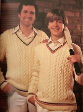 Cm11 - Knitting Pattern - Men's DK Cricket Sweater Jumper - 6 Size Instructions