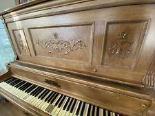 Ab Chase New York Norfolk Upright Piano - Used. Needs Work.