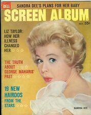 Sandra Dee cover Dell Screen Album magazine 1961 george maharis marilyn monroe