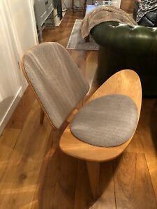 Hans Wegner Carl Hansen Denmark CH07 Shell Lounge Chairs Lacquered Oak