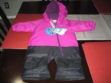 BOYS/GIRLS COLUMBIA LITTLE DUDE Snowsuit TODDLER 3/6 MONTHS BLACK/PURPL NWT $120