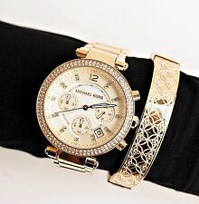 Original Michael Kors reloj fantastico mk5354 Parker color: oro pedrería nuevo