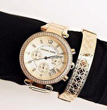 Michael Kors Uhr Damenuhr MK5354 Parker Farbe: Gold Strass NEU