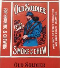 Original Vintage Old Soldier Tobacco Package Label A. S. Goodrich Milwaukee, Wi.