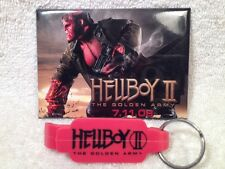 Hellboy 2 The Golden Army Promo Bottle Opener Keychain & Movie Pin Set 2008 New