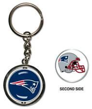 New England Patriots Key Ring Spinning 2 Sided Key Ring ,Nfl Football
