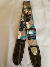 Soldier 2002 Nylon/Cotton Guitar Strap (COOL DESIGN BLUE)! FREE USA SHIPPING!