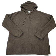 Soft Surroundings Brown 100% Cotton Oversized Pullover Hooded Sweater Medium M