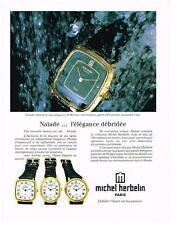 PUBLICITE  1980   MICHEL  HERBELIN  collection montres