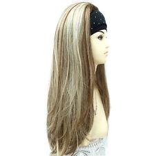 3/4 Wig Half Wig 3 Tone Chestnut Ash & Light Blonde Mix. Premium Vogue UK