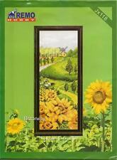 Counted Cross Stitch Kit SUMMER SUNFLOWER COUNTRY Home Art SET Chart Embroidery