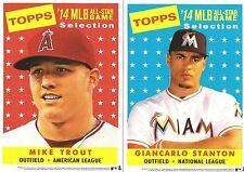 Lot of 69 2014 Topps 5 x 7 All Star Cabinet Set of 69 Trout-Jeter & More
