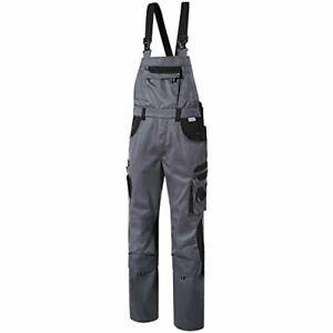 Pionier Arbeitshose Schutzhose Berufshose Latzhose Tools grau/schwarz Gr.52