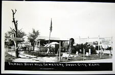 DODGE CITY Kansas ~ 1940's FAMOUS BOOT HILL CEMETERY ~ Real Photo PC  RPPC