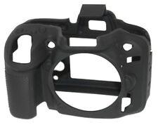 EasyCover Silicona piel suave caso cubierta Protector Nikon D5300 Negro (Reino Unido stock)