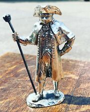 More details for silver plate figure. town squire, highly detailed figure