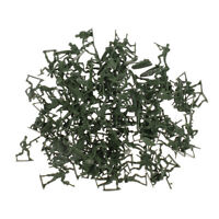 120pcs plastique militaire ensemble jouet 4cm armée soldats figurines -