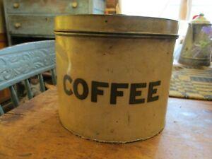 ANTIQUE VINTAGE COFFEE KEEPER TIN