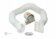 "4"" Inline Extractor Fan with Timer - Full Kit - Ventilation for Bathroom Shower"