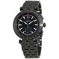 Versace V-Race Chronograph Black Dial Mens Watch VAH04 0016