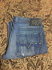 100% Authentic Diesel Jeans Style Zathan Bootcut Medium Blue Sz 32