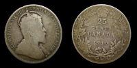 Canada 1910 Silver Quarter Twenty Five Cents 25 Cents VG-10