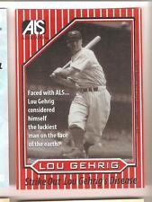 Lou Gehrig ALS Association Card - Red - New York Yankees HOF