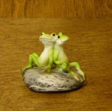 Top Collection Enchanted Story Fairy Garden #4342 FROG FRIENDS on STONE 1.5""