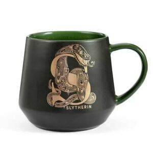 OFFICIAL HARRY POTTER GOLDEN SLYTHERIN CREST HOUSE MUG COFFEE CUP NEW IN BOX *