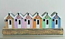 Row of Beach Huts on the Beach * Seaside Coastal Home Decor Ornament