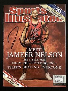 Jameer Nelson Signed Sports Illustrated 2/16/04 No Label StJoseph Hawks Auto JSA