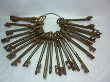 Schlüsselbund, großer Posten antike Schlüssel, Haustürschlüssel um 1900