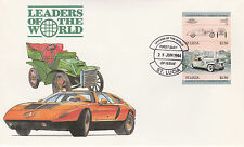 St Lucia 4981 - 1984 CARS - DUESENBERG $2.50  IMPERF PAIR on FIRST DAY COVER