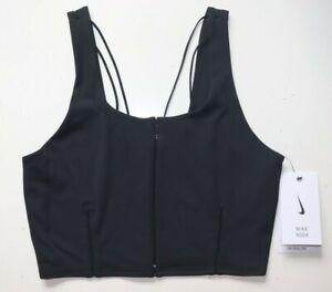 NIKE YOGA LUXE INFINALON DRI FIT TIGHT FIT CROP TANK TOP - BLACK CJ3665-010 - S