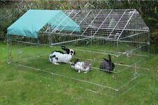 Freilaufgehege Freilauf Hasen Kaninchen Welpen Freigehege 220cm Hühner